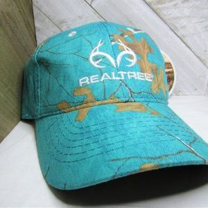 Light Blue and Brown Realtree Camo Ball Cap
